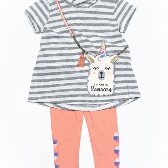 Jessica Simpson Other - Jessica Simpson Baby Girl Llama Legging Set 12m